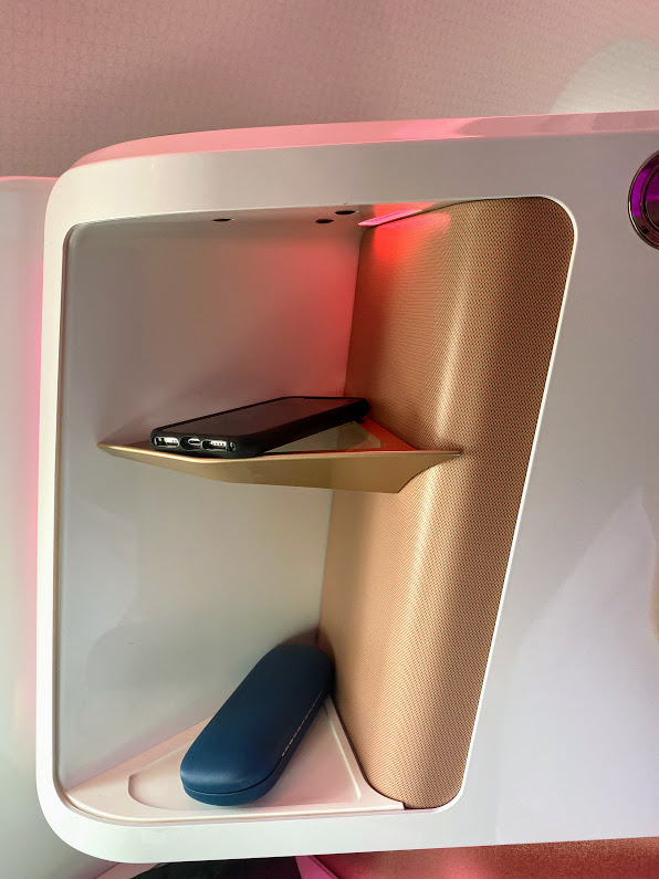 Virgin A350 upper class shelves