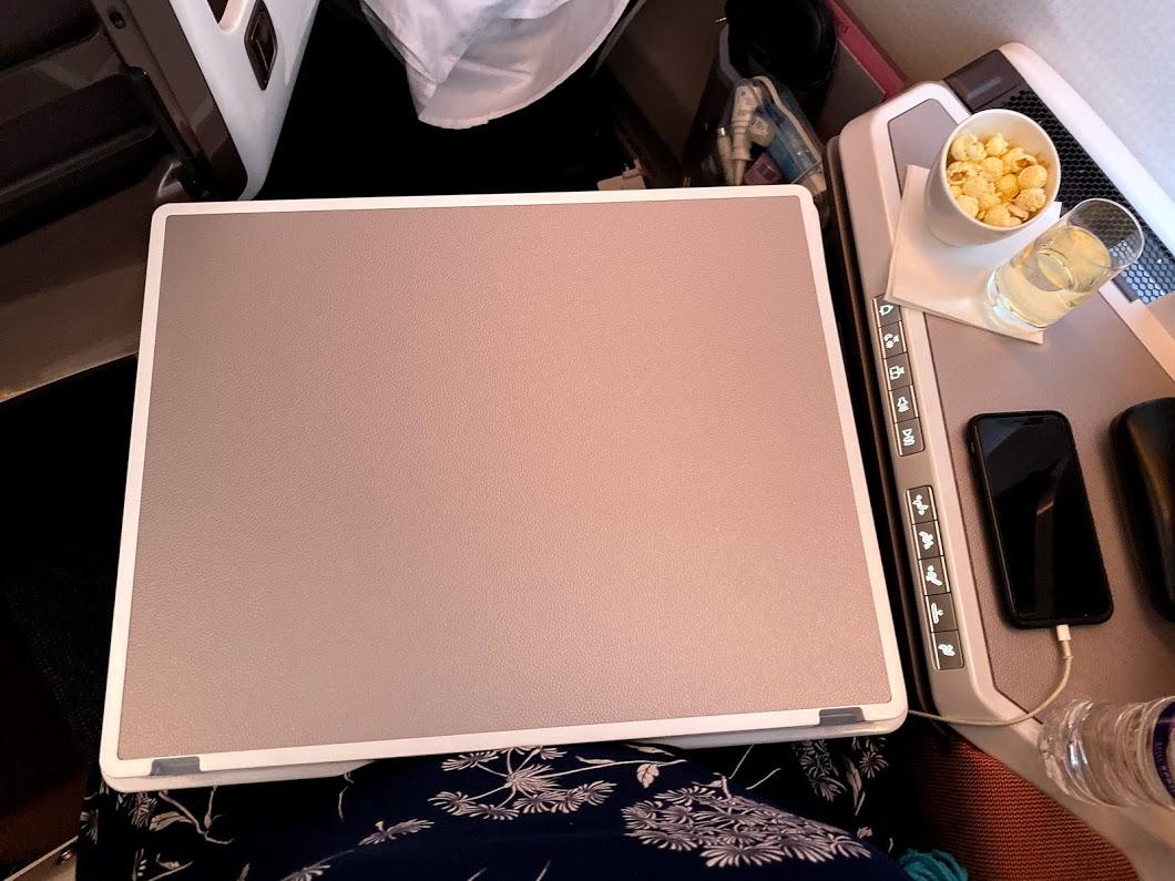 Virgin A350 upper class table