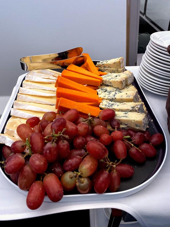 Virgin A350 upper class cheese trolley