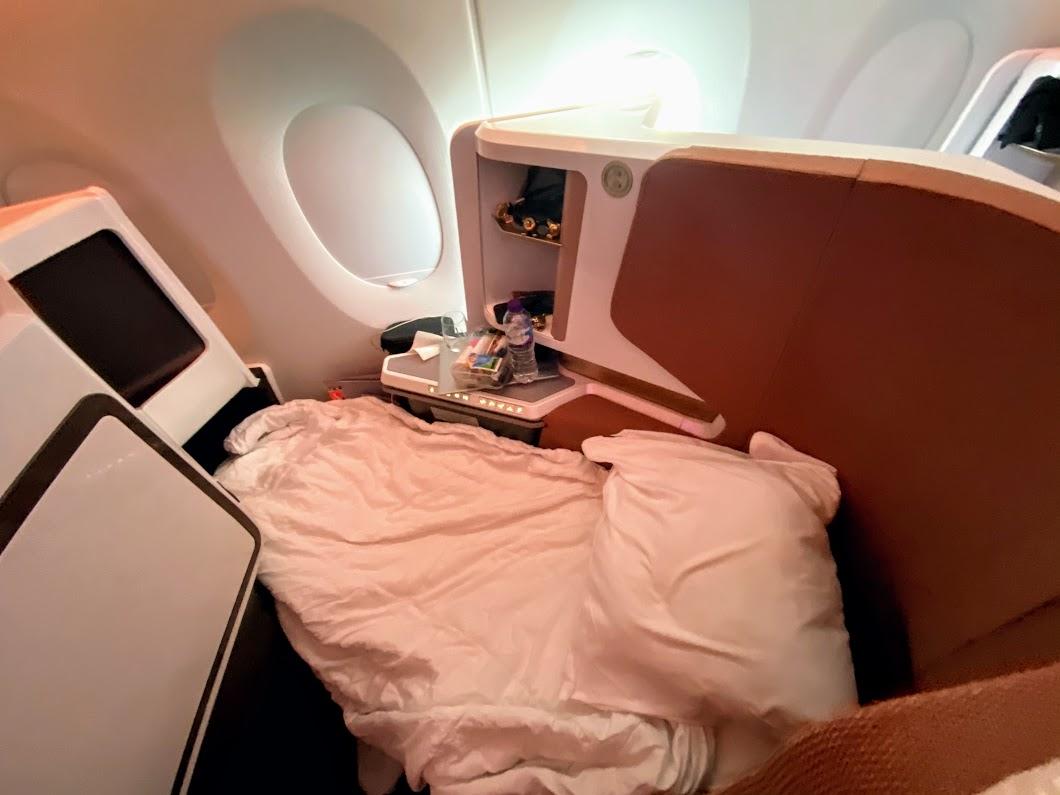 Virgin A350 upper class bed