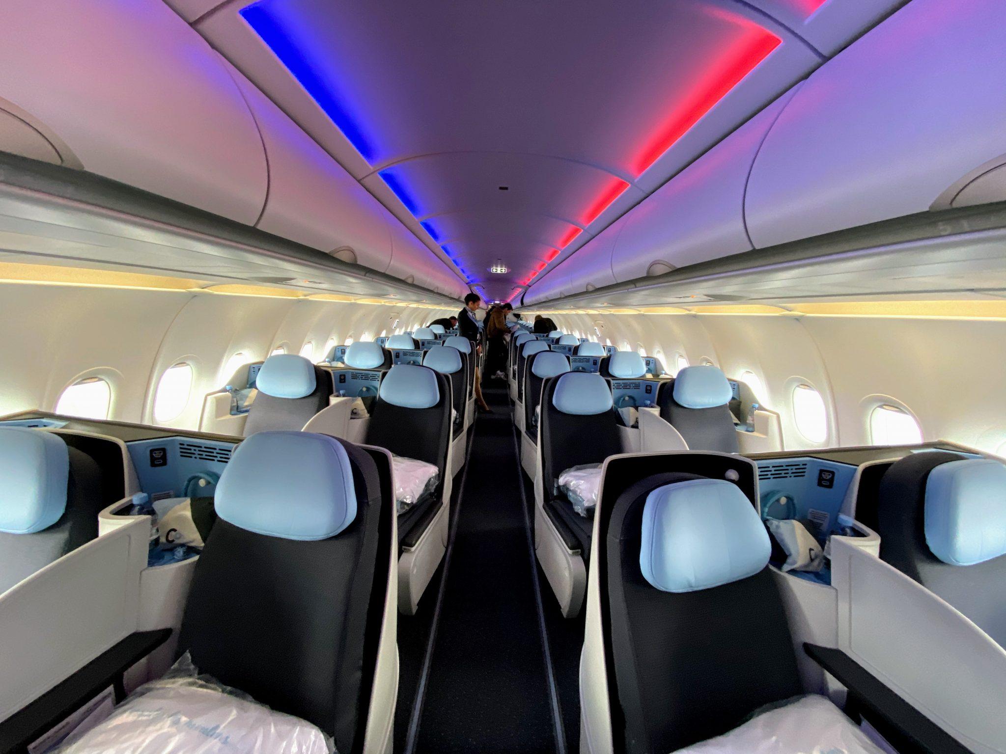 La Compagnie A321LR cabin