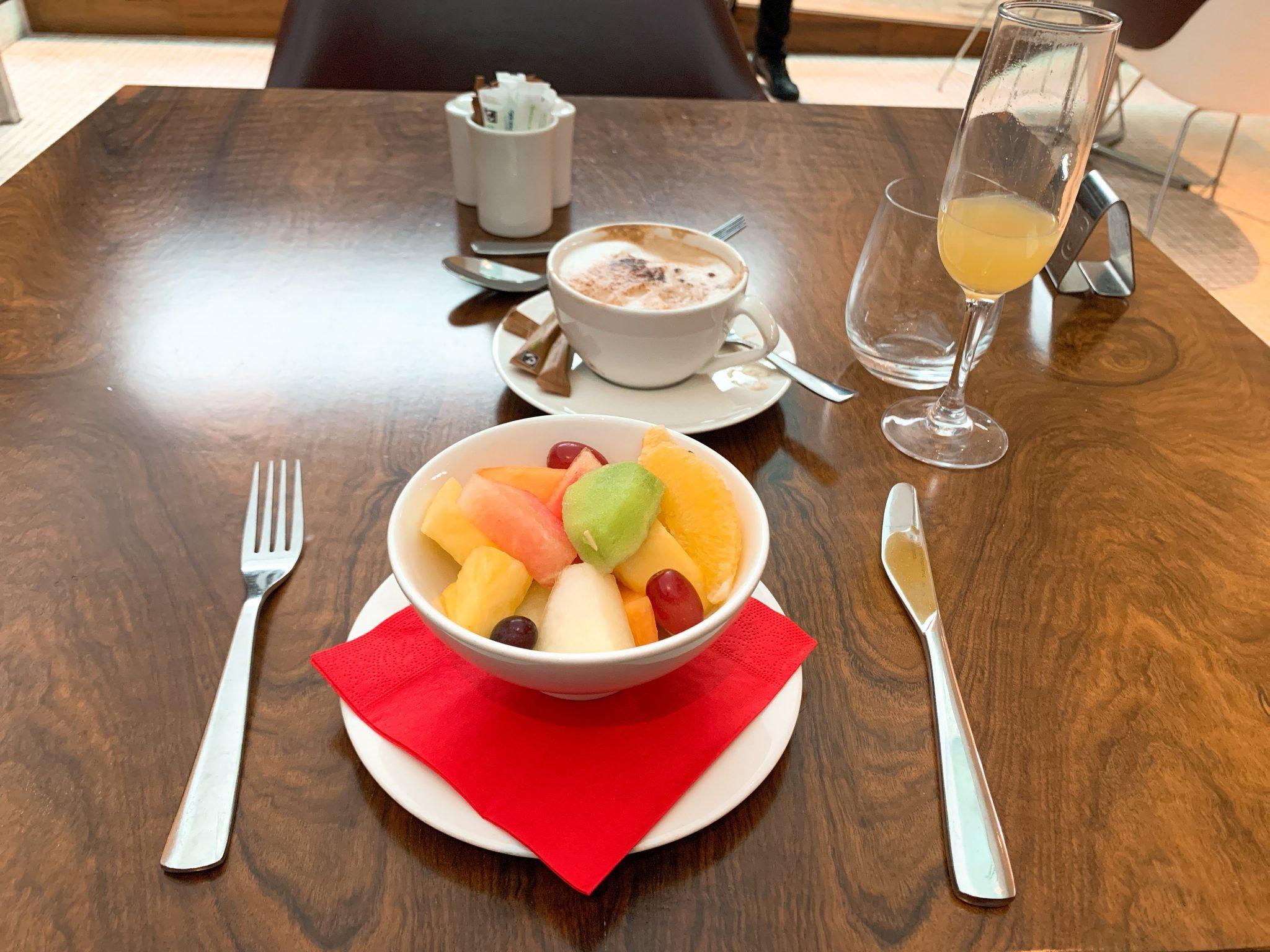 VIrgin clubhouse fruit salad heathrow