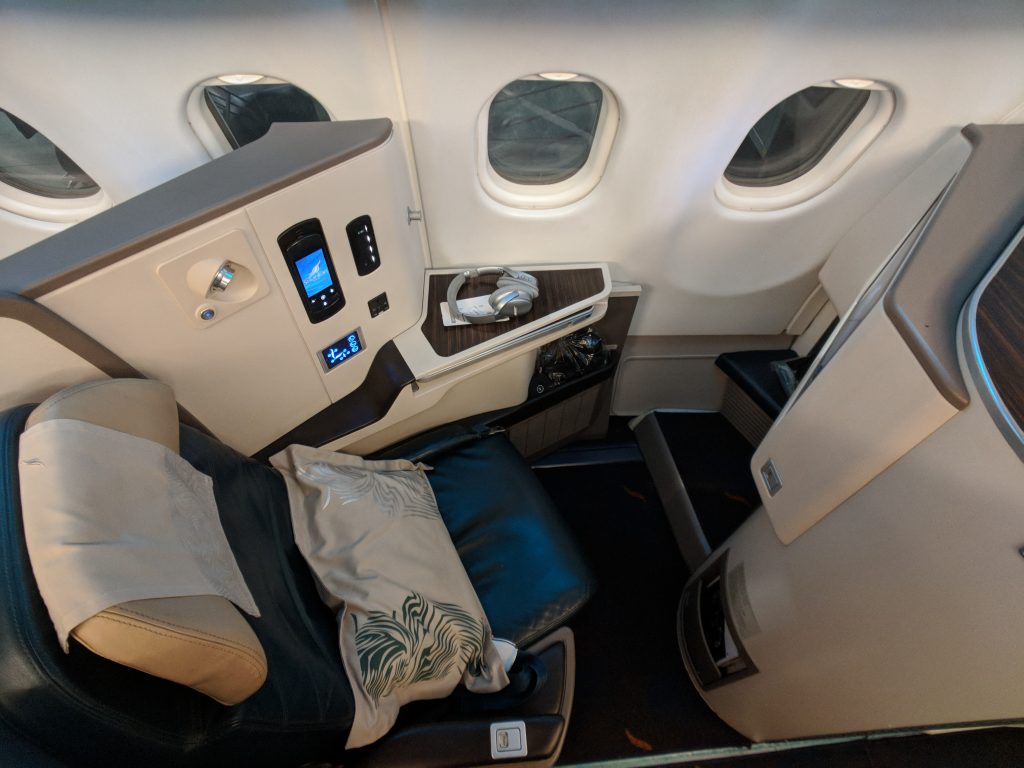 Sri Lanka A330 business c;lass seat