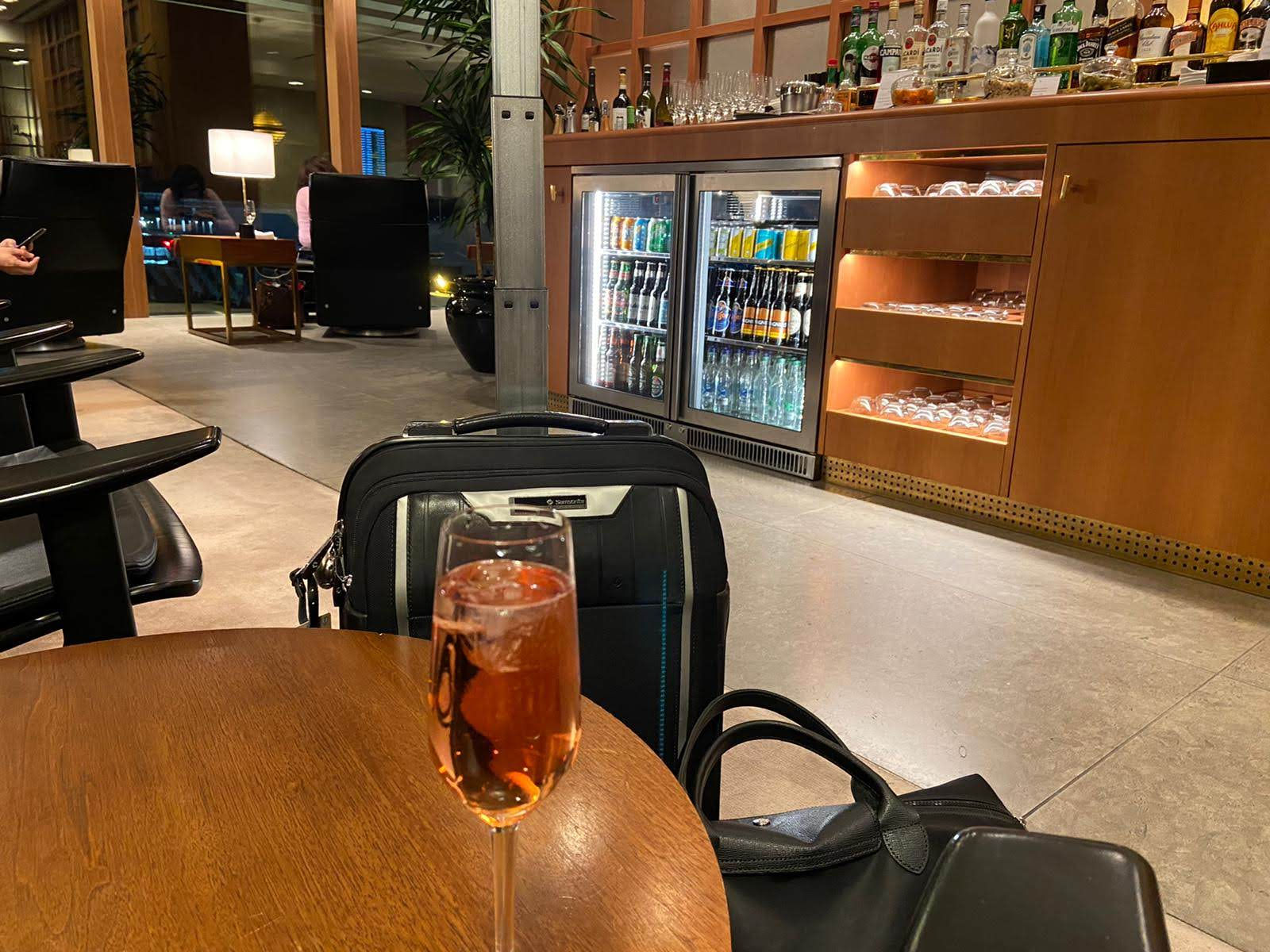 First class Cathay lounge at Heathrow T3