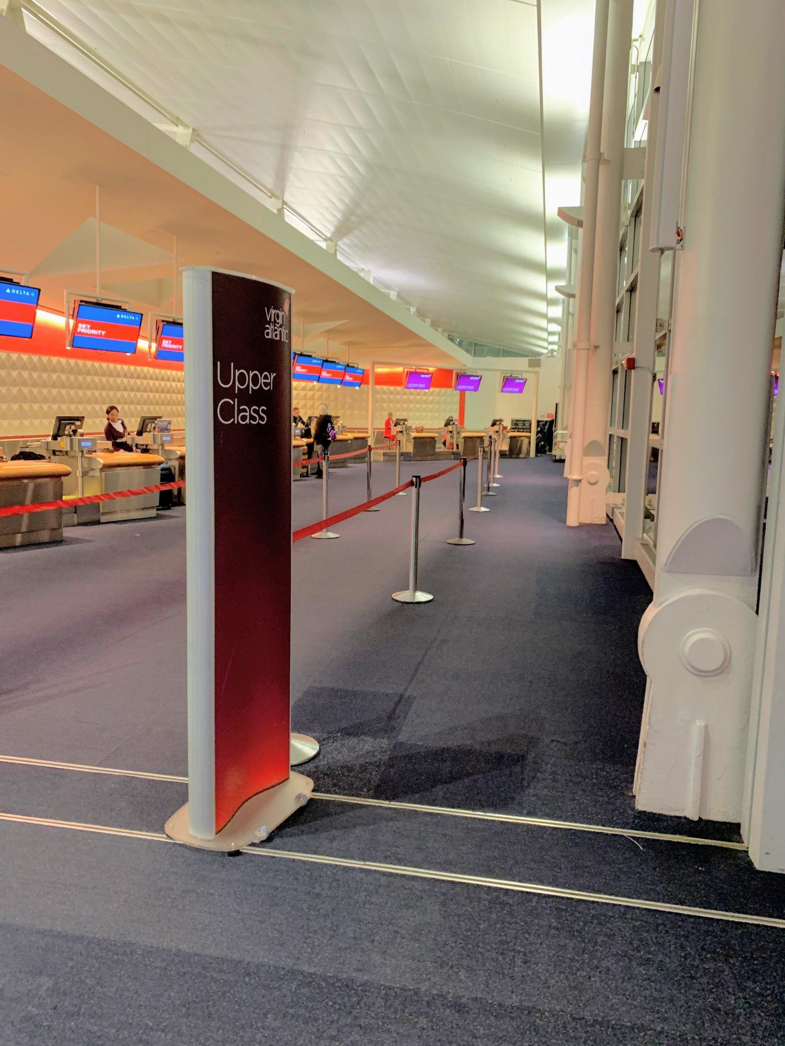 Virgin premium check-in JFK
