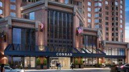 Conrad New York midtown review entrance