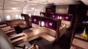qatar first class cabin