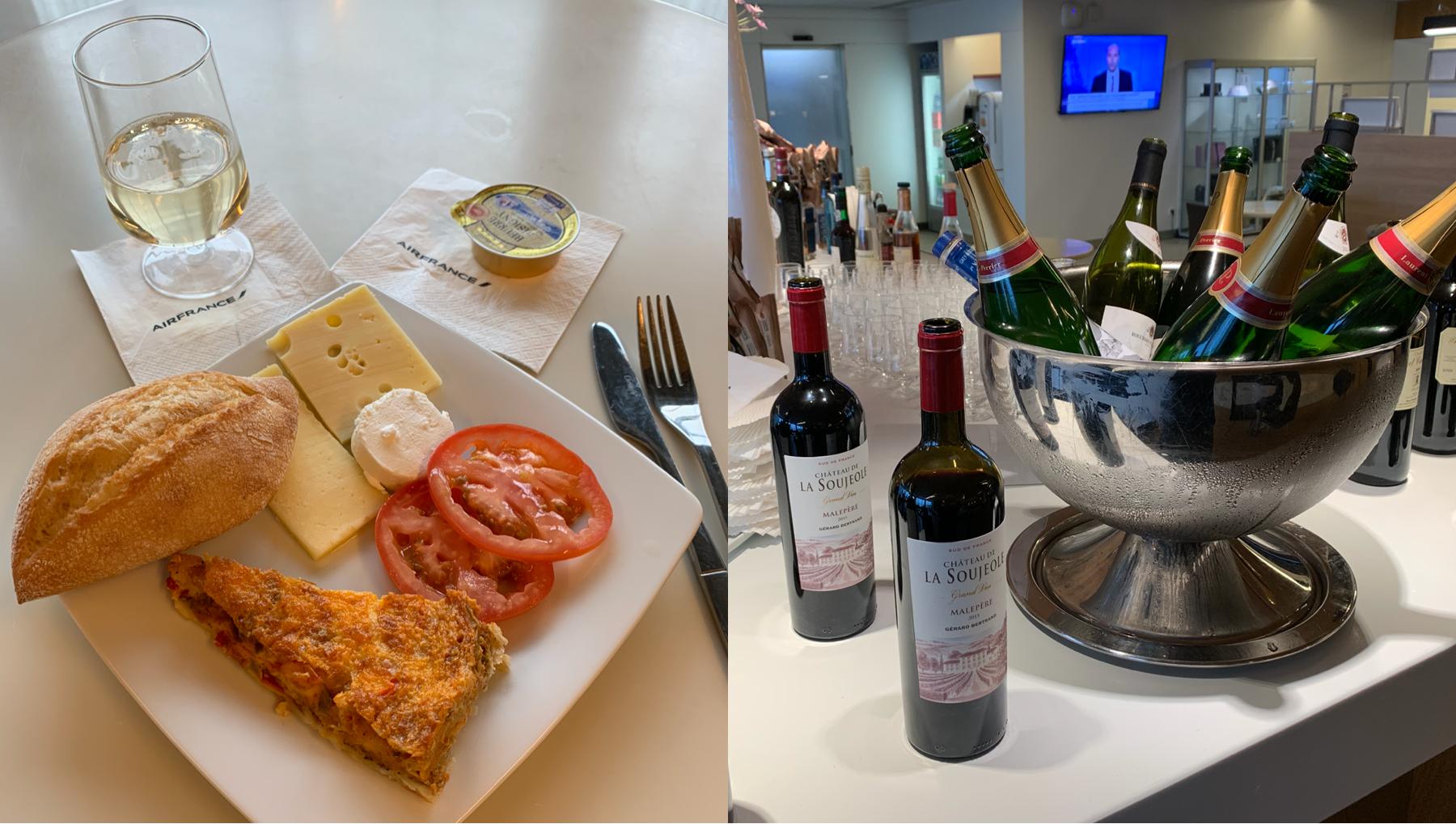 Air France lounge Paris