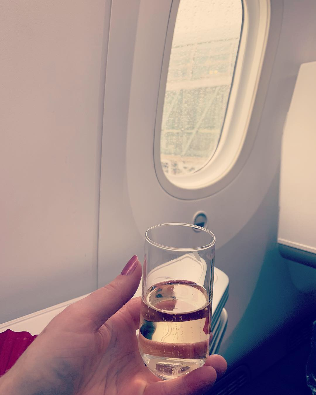 Champagne on Air France 787