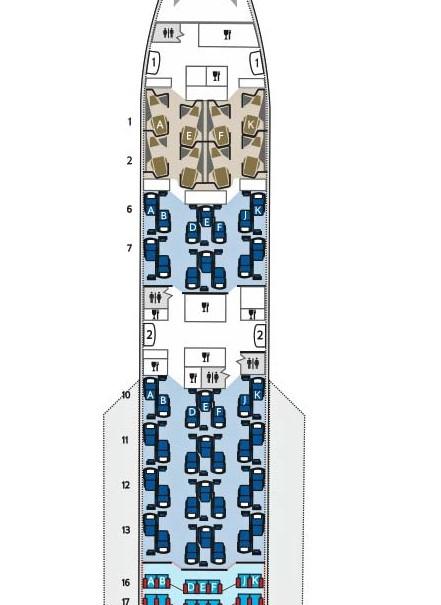 B787-9 layout business class Club World british airways
