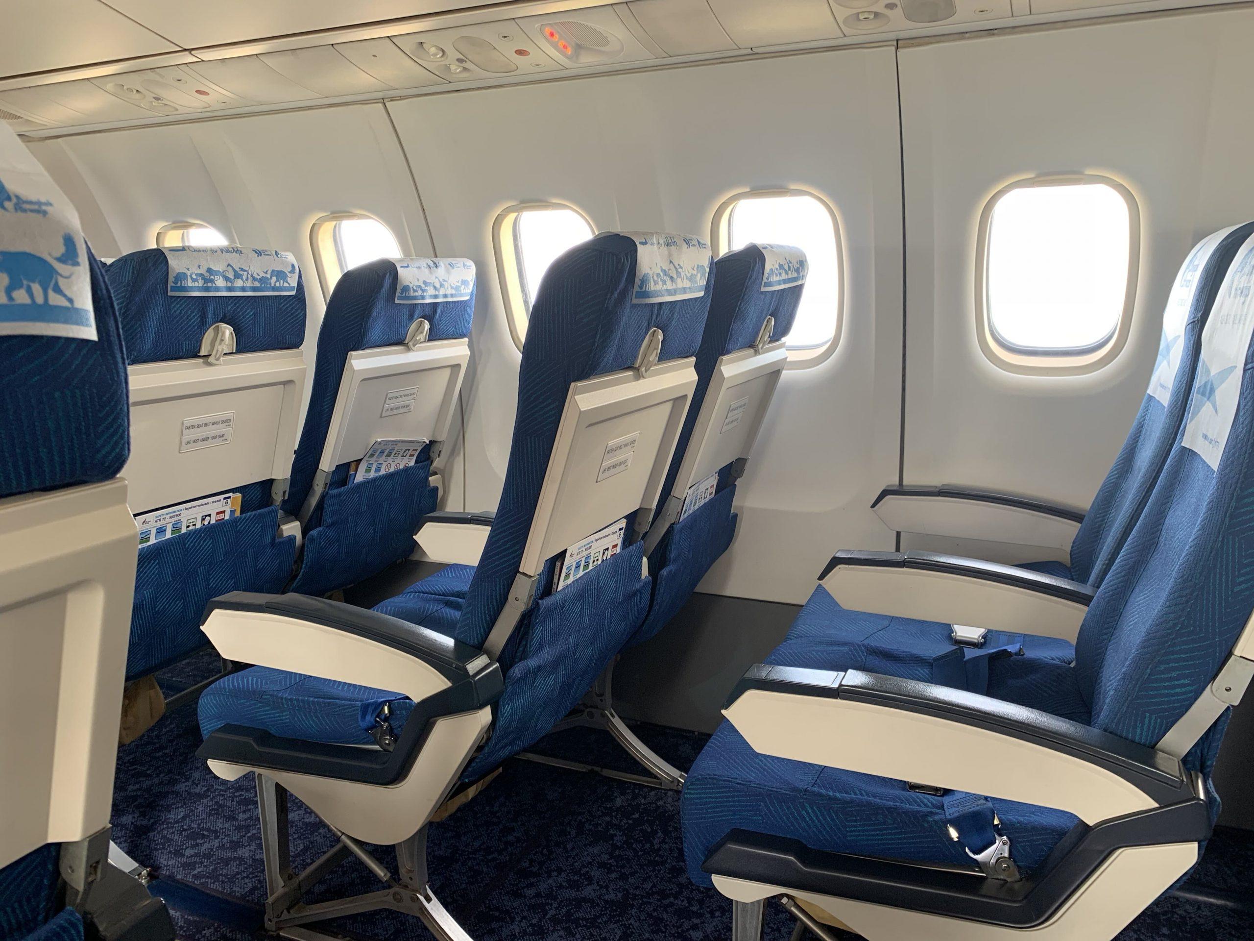 Pretty empty Bangkok Airways flight from Bangkok to Siem Reap