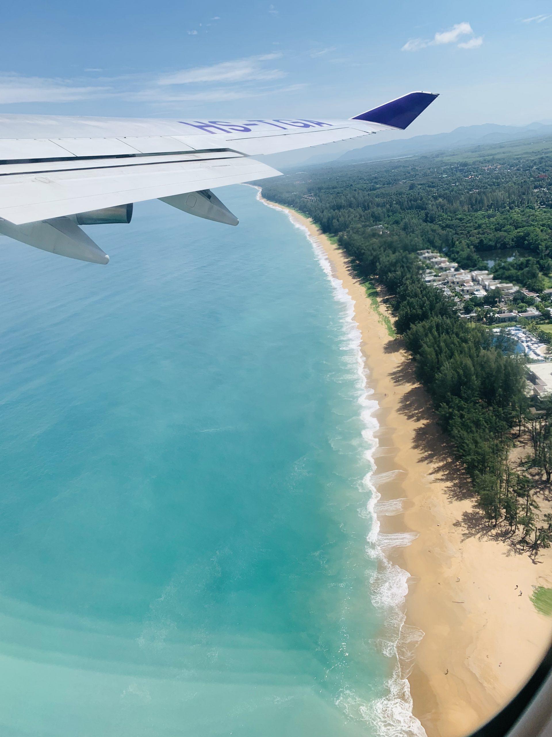 Thai Airways 747 heading out of Phuket