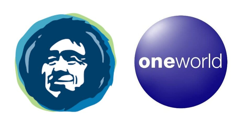 Alaska Airlines paired with Oneworld logo