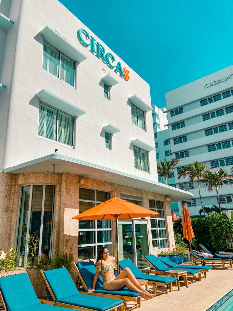 Pool side at Circa 39 Beach Hotel Miami
