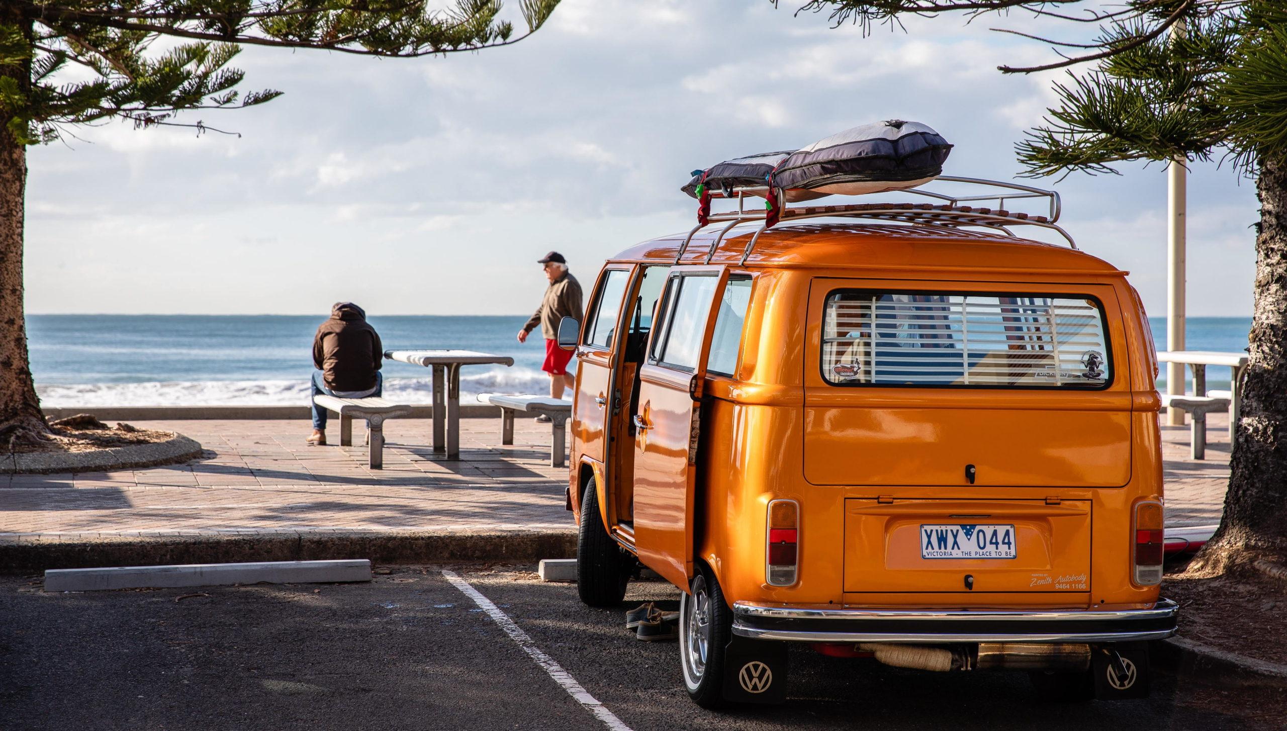 Van on Australian coast