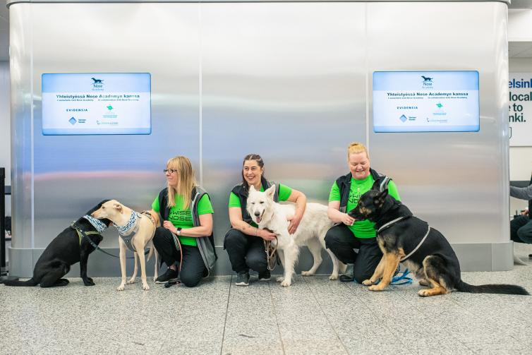 NEWS: New rapid saliva test to be trialled in European airports & Helsinki trials COVID detection dogs - Turning left for less