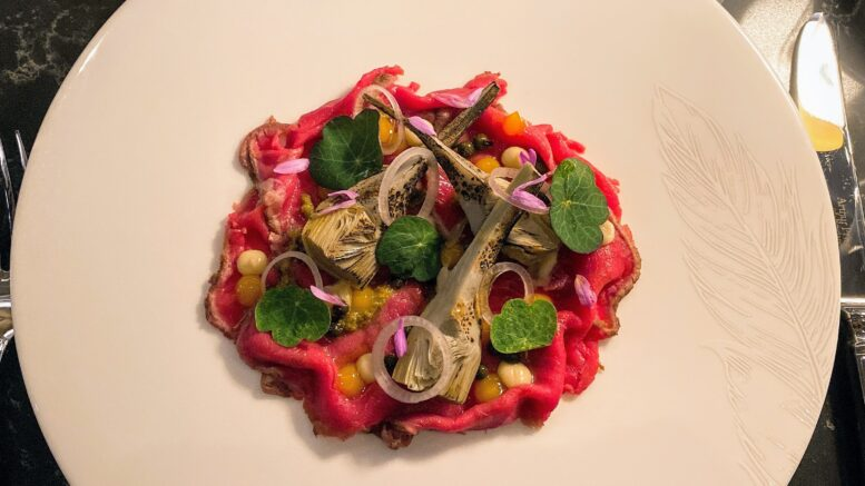 The Pem veal with artichoke and peppercorn