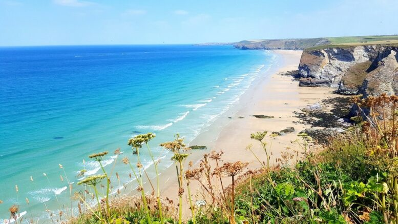Scenic View Of Sea Against Sky Newquay