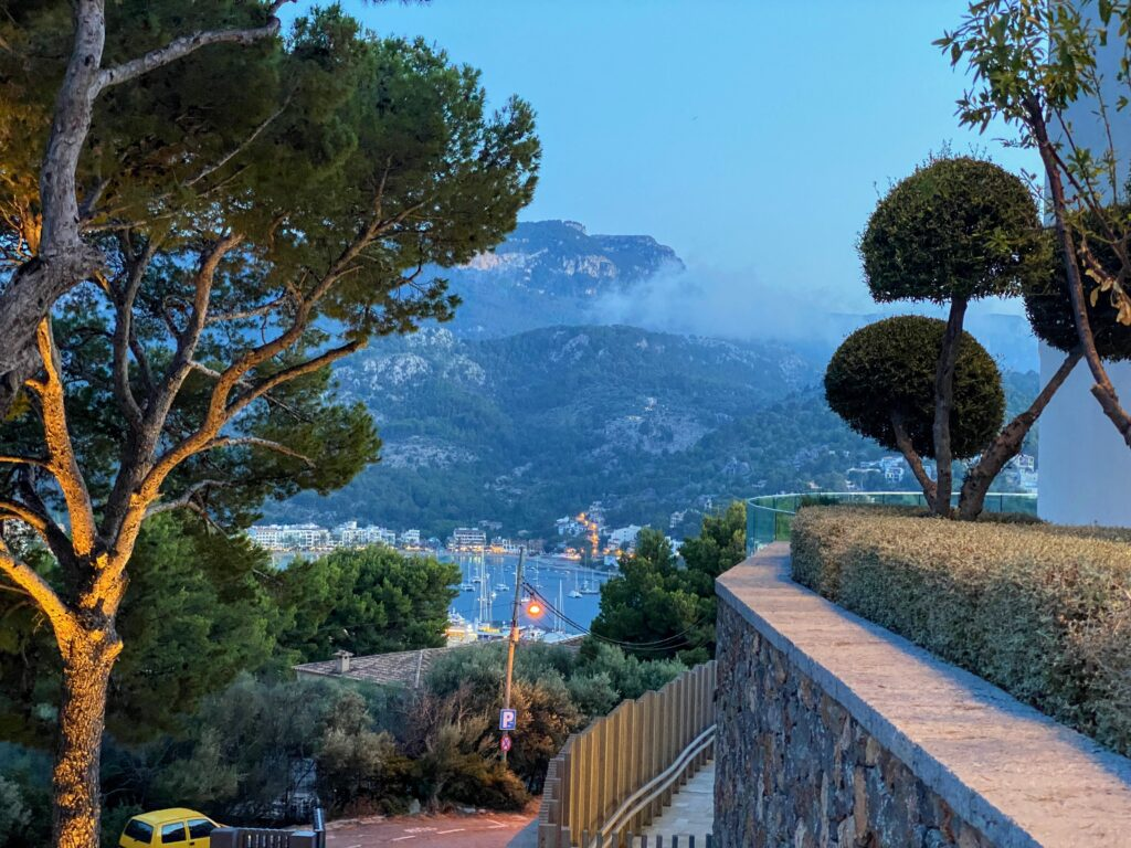 View from entrance of Jumeirah Port Soller