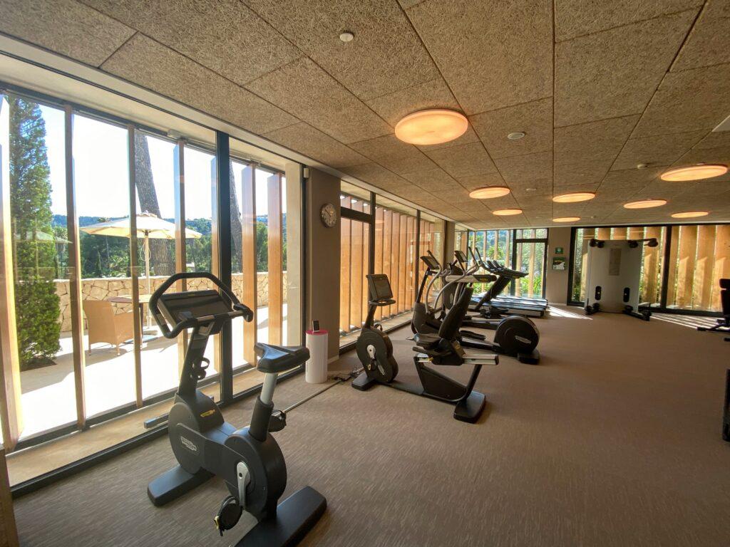 Gym at Castillo Son Vida