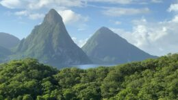 The Pitons from Anse Chastanet